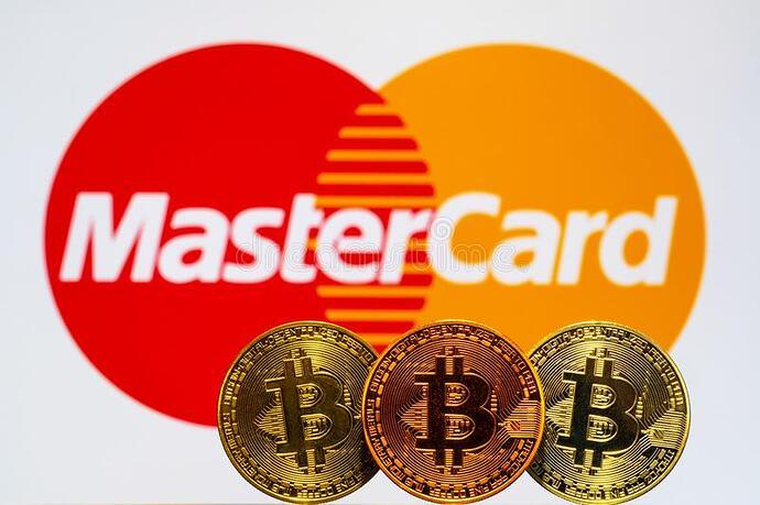 gold-bitcoin-coins-mastercard-logo-background-screen-152953136